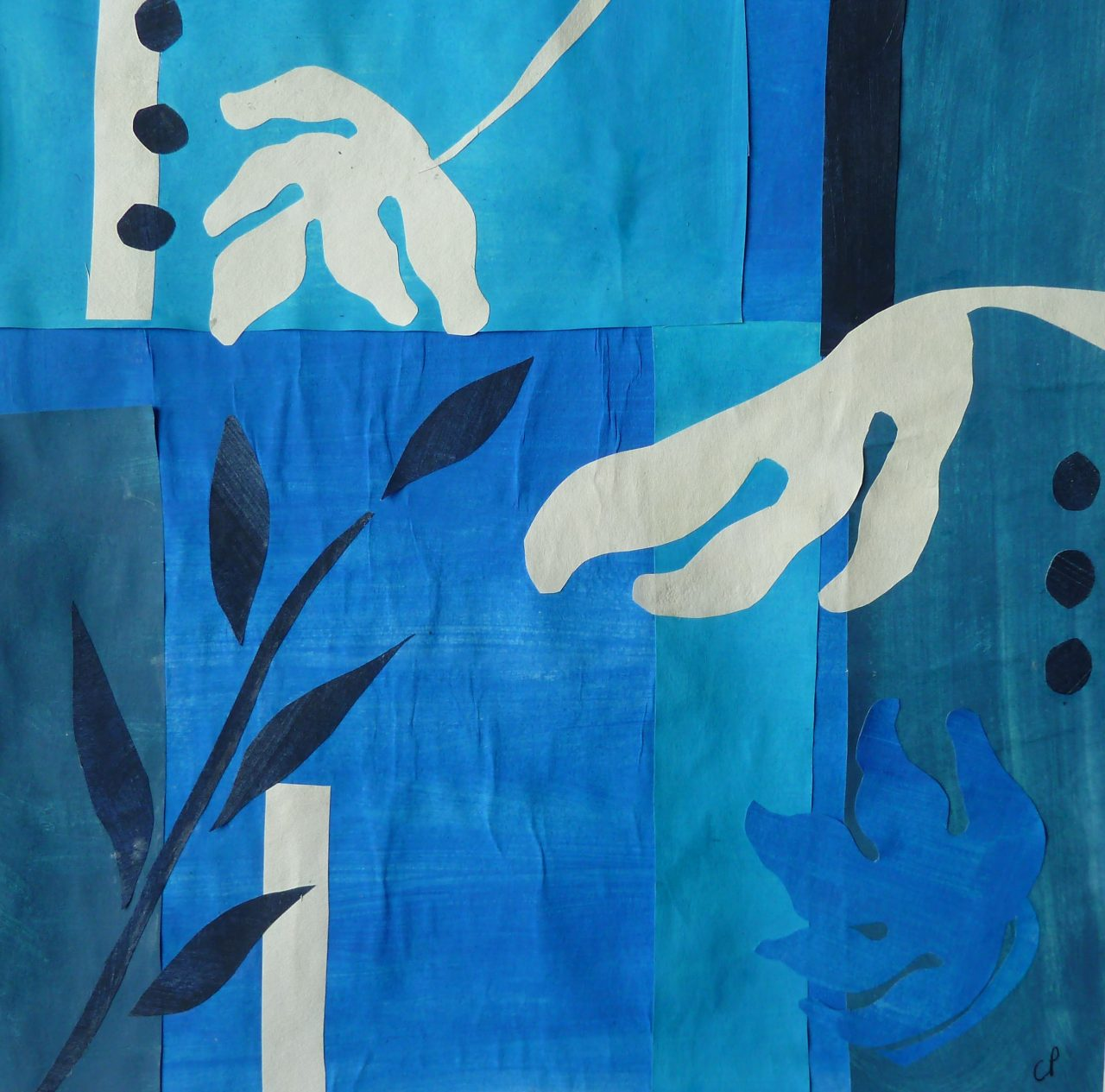 Homage to Matisse 1 (Original cut out + card)