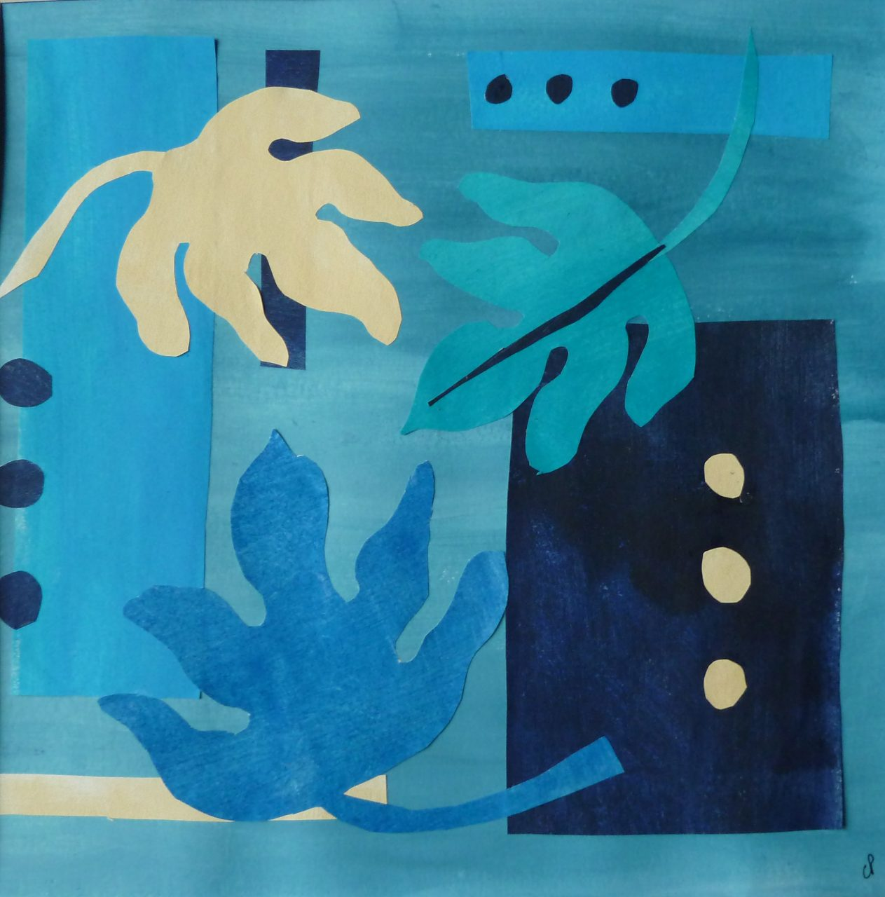 Homage to Matisse III (Original cut out + card)