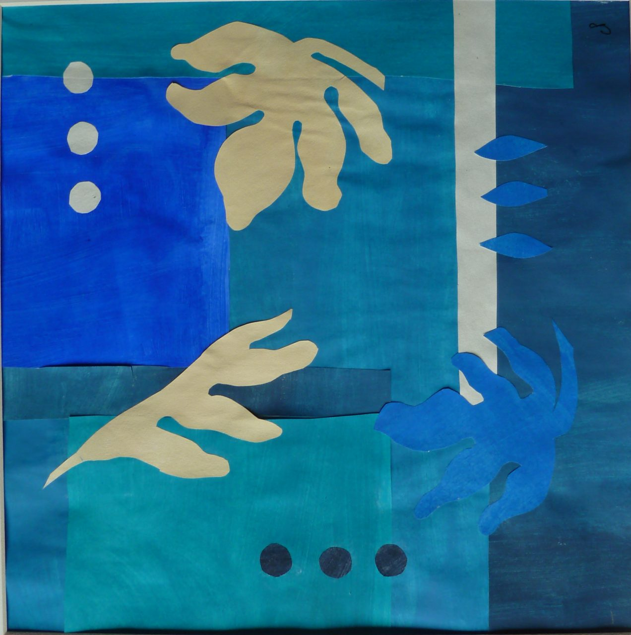 Homage to Matisse II (Original cut out + card)