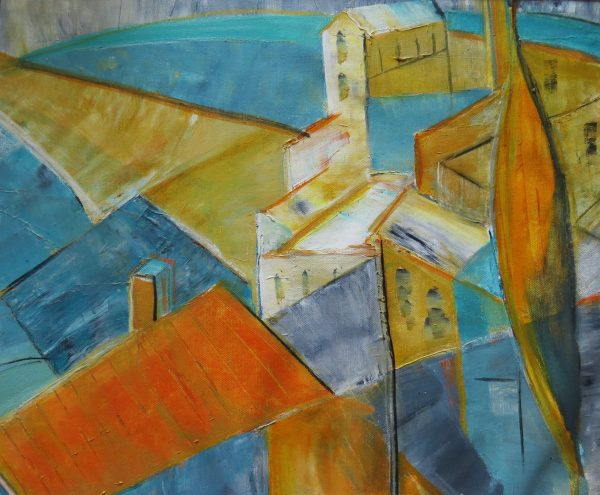 Overlooking Todi at noon (original)