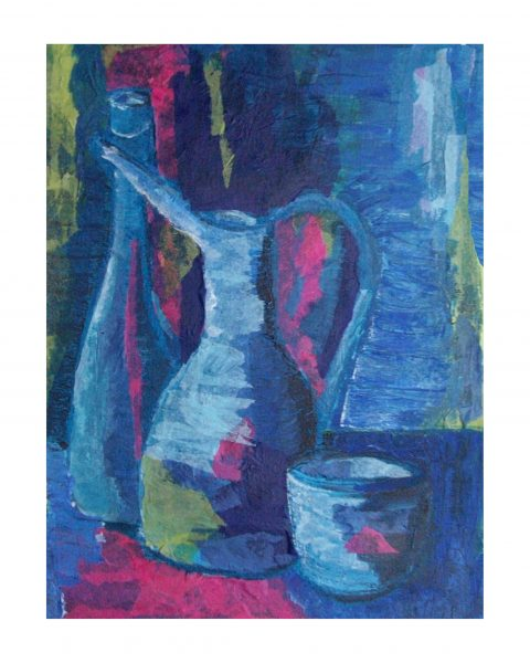Blue Still Life 2 (Original collage)
