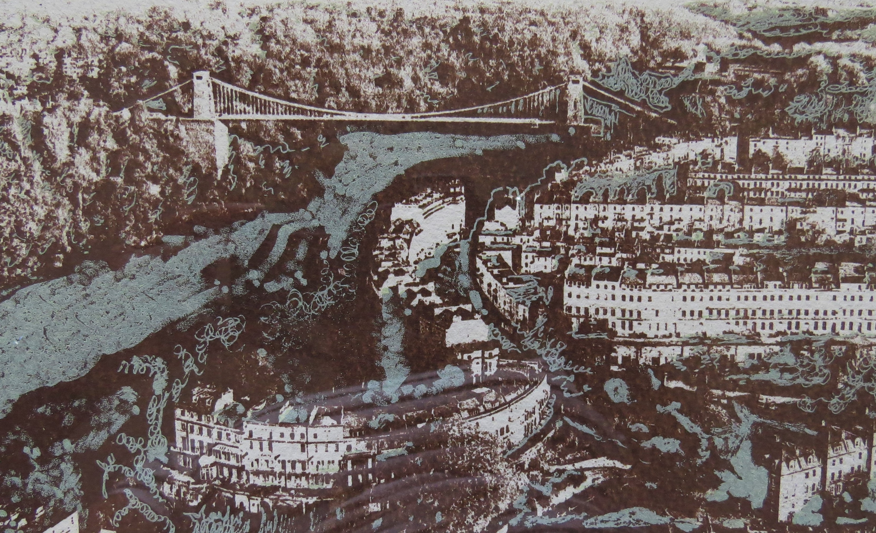 Clifton from air (screen print) (R)