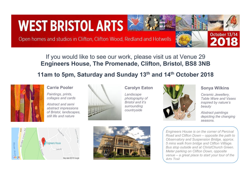 West Bristol Arts Trail – 13 & 14 October 2018